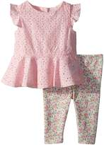 Ralph Lauren Eyelet Top Leggings Set Girl's Active Sets
