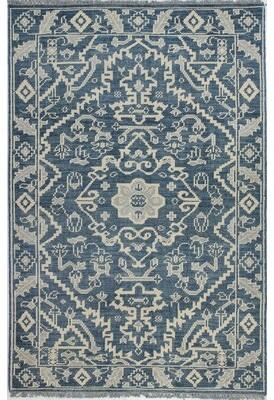 "Birch Laneâ""¢ Heritage Filipe Hand-Knotted Wool Azure Rug Birch Lanea Heritage Rug Size: 5' x 7'6"""