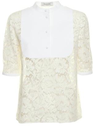 Valentino Bib Collar Lace Shirt