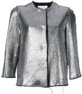 Gianluca Capannolo high shine bomber jacket
