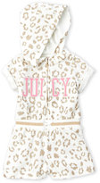 juicy couture (Infant Girls) Glitter Leopard Print Terry Romper