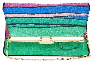 BIENEN-DAVIS Pm Rainbow-striped Lurex Clutch - Multi