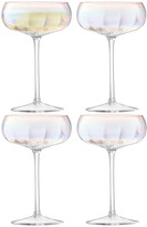 LSA International Pearl Champagne Saucer - Set of 4