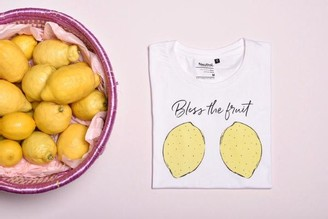 LaLabellove.com - Citron Bless The Fruit T Shirt - S - White/Yellow