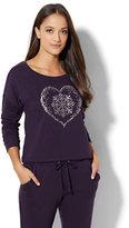 New York & Co. Cozy Lounge - Fair Isle Heart Sweatshirt