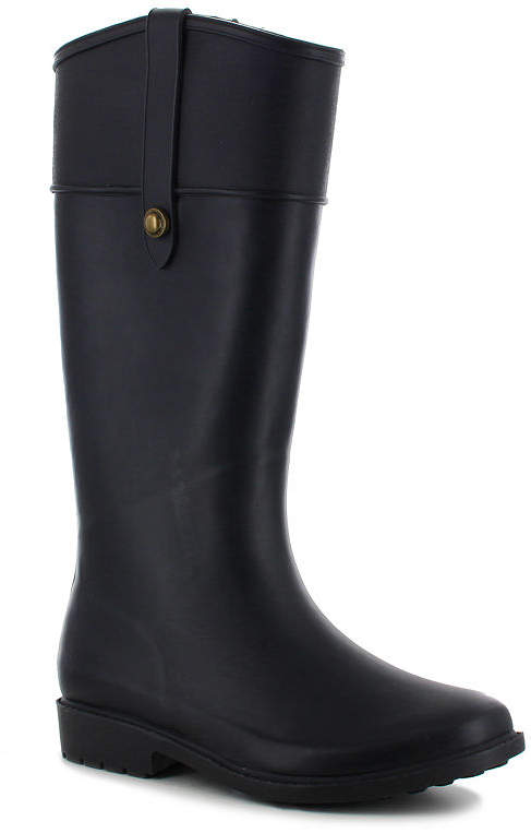 110650ec2bf FASHION Fashion Womens Waterproof Flat Heel Pull-on Rain Boots