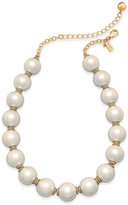 Kate Spade Rose Gold-Tone Pink Imitation Pearl Collar Necklace