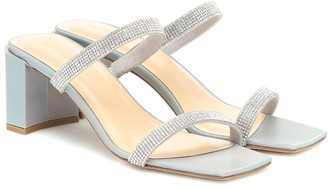 BY FAR Tanya embellished leather sandals