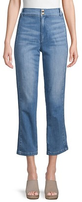Frame High-Waist Cropped Jeans