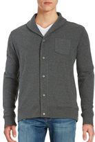 Black Brown 1826 Shawl Collar Cotton-Blend Cardigan