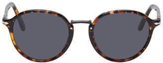 Persol Tortoiseshell and Blue PO3210S Typewriter Edition Sunglasses
