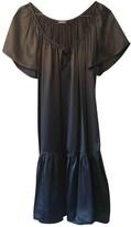 John Galliano Grey Silk Dress for Women