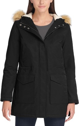 Levi's Women's Faux-Fur Trim Hood Parka Jacket
