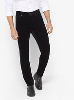 Michael Kors Slim-Fit Velvet Five-Pocket Pants