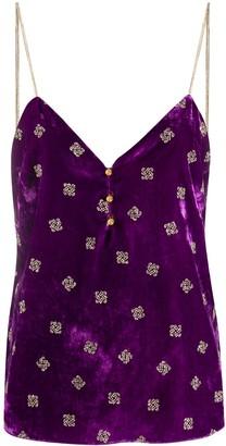 Pinko buttoned V-neck vest top