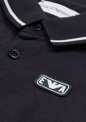 Emporio Armani Jersey Polo Shirt With Ea Patch