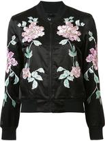 3x1 embroidered flowers jacket - women - Cotton/Polyester/Rayon - S