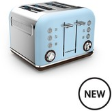 Morphy Richards Accents Pyramid 4-Slice Toaster - Special Edition Azure