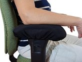 Chair Armrest Arm Pad Covers - Genuine High Density Memory Foam for Ultimate Elbow Comfort (2 Piece Set)