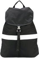 Neil Barrett contrast stripe backpack