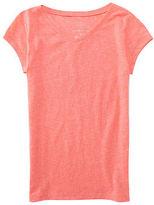 P.s. From Aeropostale Aeropostale Kids Ps Girls' Neon Core V-Neck Tee Shirt