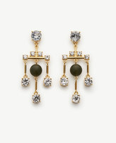 Ann Taylor Crystal Bead Drop Earrings
