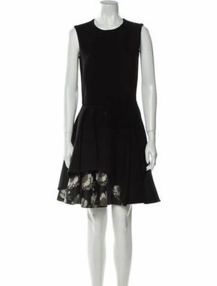 Alexander McQueen Crew Neck Knee-Length Dress Black