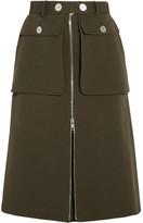 Alexander McQueen Wool And Silk-blend Twill Skirt - Army green