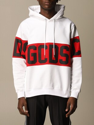 GCDS Cotton Sweatshirt With Big Logo