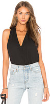 Krisa Surplice Tank in Black. - size L (also in M,S,XS)