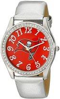 Game Time NFL Women's 10027076 Glitz Analog Display Japanese Quartz White Watch