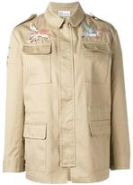 RED Valentino bird embroidery jacket - women - Cotton/Polyester/Viscose - 44