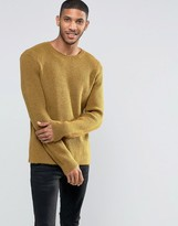 Asos All Over Rib Jumper In Relaxed Fit