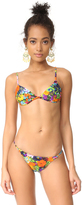 Milly Floral Print Elba Bikini Top