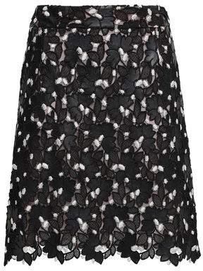 Giambattista Valli Scalloped Embroidered Guipure Lace Mini Skirt
