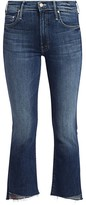 Mother Insider High-Rise Crop Fray Jeans