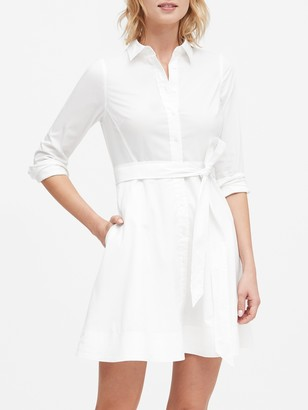 Banana Republic Petite Poplin Shirt Dress