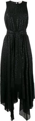MICHAEL Michael Kors Leopard Print Flared Dress