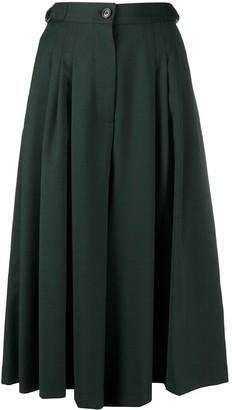 Closed Pleated Midi Skirt
