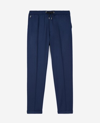 The Kooples Blue wool trousers with elastic band