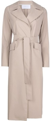 Harris Wharf London Mid-Length Trench Coat
