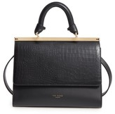 Ted Baker Croc Embossed Leather Satchel - Black
