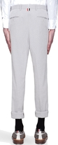 Thom Browne Grey Pinstripe Pleated Trousers