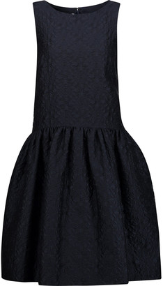 Oscar de la Renta Pleated Cloque Dress