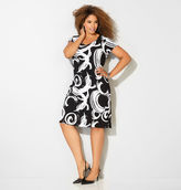 Avenue Brushstroke Swirl Sheath Dress