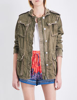 Free People Double Cloth Military denim jacket