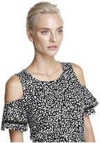 Joe Fresh Women's Cold Shoulder Knit Dress, Navy (Size M)