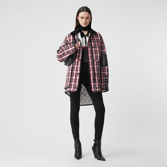 Burberry Diamond Quilted Tartan Oversized Barn Jacket