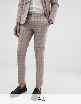 Twisted Tailor super skinny suit trousers in mini check