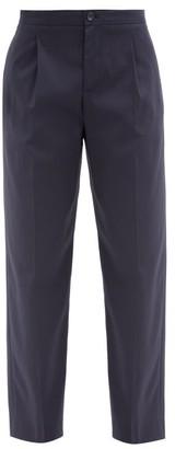 A.P.C. Amalfi Cotton-crepe Trousers - Navy